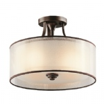 Lacey Semi-Flush 3 Light KL/LACEY/SF MB