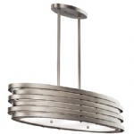 Roswell Oval 3 Light Pendant KL/ROSWELL/ISLE