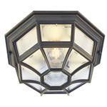 Latina IP44 Outdoor Flush Light LA8 BLK/GOLD