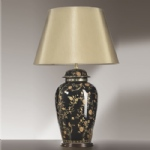 Bird And Flower Table Lamp LUI/BLKBIRDS TJL LS1131
