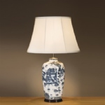 Ceramic Willow Table Lamp LUI/BLUE TRAD WP LS1039