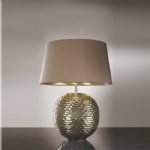 Caesar Gold Colour Finish Table Lamp LUI/CAESAR Gold LS1018