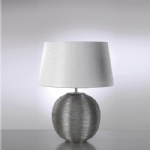 Caesar Silver Finish Round Table Lamp LUI/CAESAR SIL LS1019