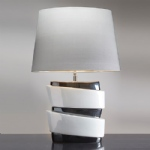 White/Graphite Table Lamp LUI/PISA + LUI/LS1112