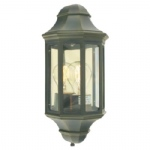 Black Gold Mini Malaga Outdoor Lantern M8/2 MINI BLK/GO