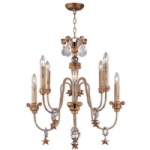 Mignon Aged Gold 8 Light Chandelier CH1111