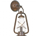 Outdoor old Bronze Wall Light MINERS WALL