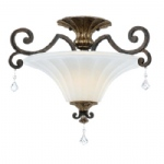 Double Semi Flush Light QZ/MARQUETTE/SF