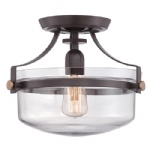 Penn Station Semi-Flush Ceiling Light QZ/PENNSTAT/F WT