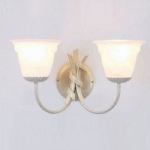 Ribbon Twin Wall Light RB2 Iv/Gold + GS81