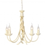 RB5 Ivory Gold Ribbon 5 Arm Ceiling Light
