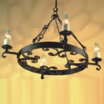 Rectory 4 Light Ceiling Pendant RY4 Black