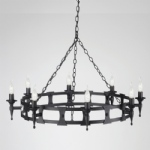 Saxon 8 Light Ceiling Fitting SAX8 BLK