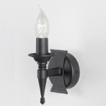 Saxon Black Single Wall Light SAX1 BLK
