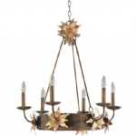 Simone 6 light Bronze Chandelier SC1162 6