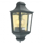 T9 BK Black Turin Outdoor Wall Light