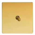 Toggle Switch Polished Brass XDVT1S