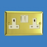 2 Gang 13a Double Wall Socket XV5W