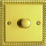 V-PRO Polished Brass Low Load Rotary Dimmer Switch JGP401