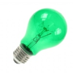 Green GLS 60W ES E27 Colourglazed Lamp Bulb