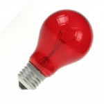 Red E27 GLS 60W ES Colourglazed Lamp Bulb