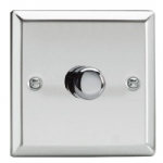 1 x Gang Mirrored chrome dimmer HC3