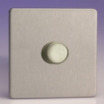 JDSP401S Low Load Dimmer Brushed Steel