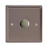 HR3 1 x Gang Pewter finish dimmer HR3 Pewter