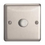 1000W Satin Chrome Dimmer Switch HS9