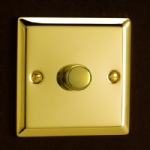 Victorian Polished Brass Dimmer HV3