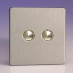 IDSS002S Sc Slave Dimmer Satin chrome