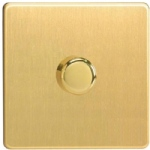 JDBP401S V-Pro Satin Brass Dimmer Switch