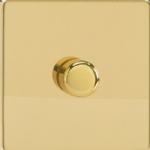 V-Pro Low Load Polished Brass Screwless Dimmer switch JDVP401S