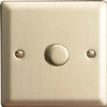 V-Pro Satin Chrome Low Load Rotary Dimmer Switch JNP401