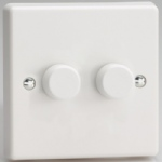 JQP252W Classic Dual Switch Low Load Dimmer