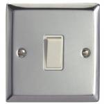 Polished Chrome Switch 10 Amp XC1W
