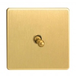 1 Toggle Switch Satin Brass XDBT1S