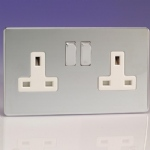Double Socket White Inserts XDC5WS