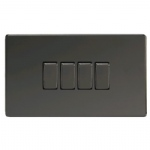 4 Gang 2 way Switch Black XDI9S