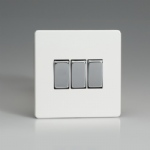 Premium White Triple Rocker Switch XDQ3S