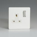 White Single Socket 1 Gang XDQ4WS
