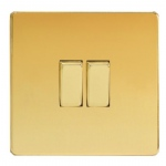 Double Polished Brass Switch XDV2S