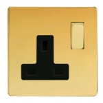 Polished Brass Single Socket XDV4BS