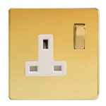 Polished Brass Single Socket XDV4WS