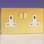 Polished Brass Double Socket XDV5WS
