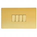 Varilight four Way Polished Brass Switch XDV9S
