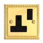 Georgian Brass Single Socket XG4B