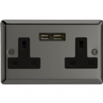 Classic dual socket with USB ports