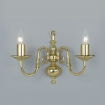 Flemish Style Double Wall Light BF00350/2/WB/PB