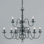Flemish Style Chandelier BF00350/6+3/GM